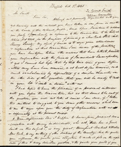 Copy of a letter from Amos Augustus Phelps, Buffalo [N.Y.], to Gerrit Smith, Oct. 2nd. 1835