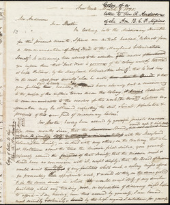 Copy of letter from Amos Augustus Phelps, New York, to Rufus Anderson, March 9, 1835