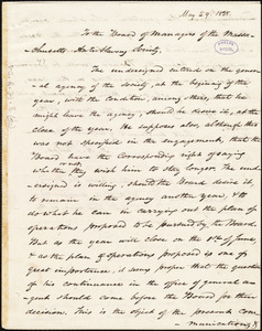 Copy of letter from Amos Augustus Phelps, Boston, to William Cogswell and Masachusetts Anti-Slavery Society. Board Members, May 29. 1838