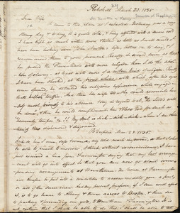 Letter from Amos Augustus Phelps, Peekskill (N.Y.), to Charlotte Phelps, March 23. 1835