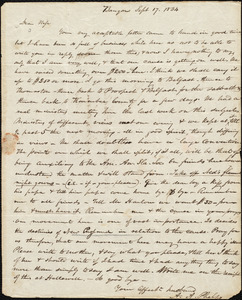 Letter from Amos Augustus Phelps, Bangor [Maine], to Charlotte Phelps, Sept 17, 1834