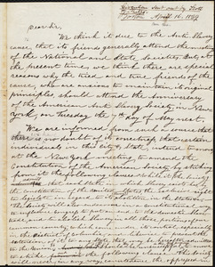 Draft of circular letter from Orange Scott, [Boston], [April 16, 1839]