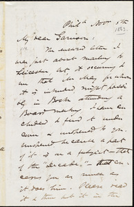 Letter from James Miller M'Kim, Phil[adelphi]a, [Pa.], to William Lloyd Garrison, Nov[embe]r 5th [1863]