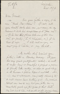 Letter from Samuel May, Jr., Leicester, [Mass], to Francis Jackson Garrison, Dec[ember] 18 / [18]78