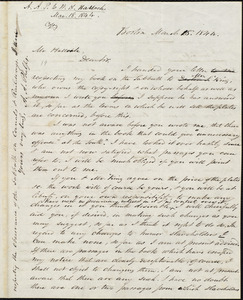 Copy of letter from Amos Augustus Phelps, Boston, to William Allen Hallock, March 18, 1844