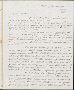 Correspondence between S. S. C. Abbott and A. A. Phelps, December 12-15, 1837
