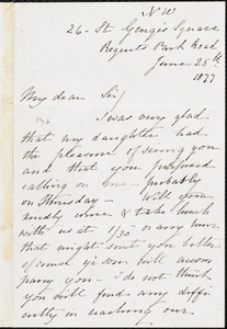 Letter from Louisa C. McKee, [London, England], to William Lloyd Garrison, June 25th 1877