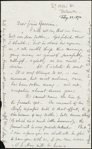 Letter from Samuel May, Jr., [Leicester, Mass.], to William Lloyd Garrison, Feb[ruar]y 23, 1870