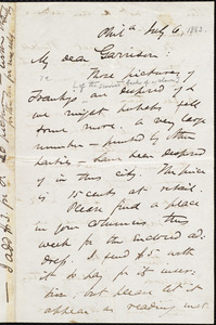 Letter from James Miller M'Kim, Phil[adelphi]a, [Pa.], to William Lloyd Garrison, July 6 [1863]