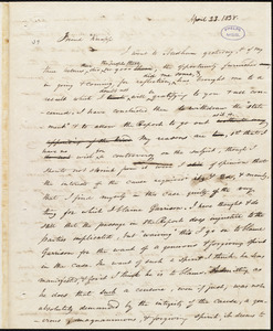 Letter from Amos Augustus Phelps, Boston, to Isaac Knapp, April 23. 1838