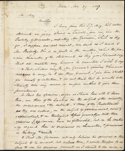 Letter from Amos Augustus Phelps, Boston, to Samuel May, Jr., Nov 27. 1837