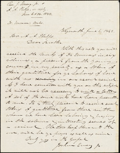 Copy of letter from Joshua Emery, Boston, June 14, 1842