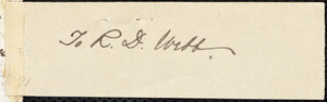 Letter from James Miller M'Kim, Phil[adelphi]a, [Pa.], to William Lloyd Garrison, Aug[ust] 16 [1861]
