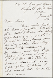 Letter from Louisa C. McKee, [London, England], to William Lloyd Garrison, June 23d 1877