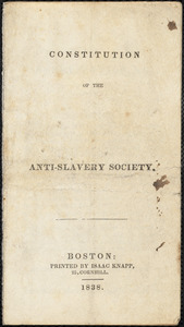 Constitution of the ... Anti-Slavery Society