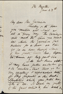 Letter from Agnes MacDonnell, [Beckenham, England], to Francis Jackson Garrison, June 23d [1877]
