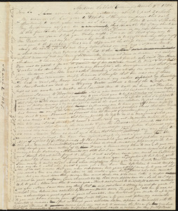 Letter from Amos Augustus Phelps, Andover, [Mass.], to Sarah Ann Haggins, March 2nd 1828