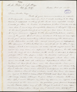 Copy of letter from Amos Augustus Phelps, Boston, to Samuel Joseph May, Oct 17. 1837
