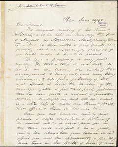 Letter from James Miller M'Kim, Phila[delphia, Pa.], to William Lloyd Garrison, June 30 / [18]42