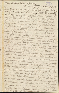Letter from Sophia Louisa Little, to William Lloyd Garrison and Amos Augustus Phelps
