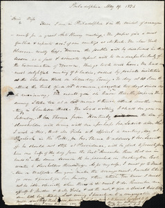 Letter from Amos Augustus Phelps, Philadelphia, to Charlotte Phelps, May 19, 1834