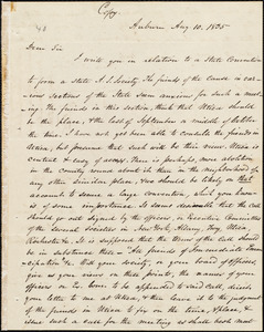 Copy of a letter from Amos Augustus Phelps, Auburn [N.Y.], to Otis Allen, Aug. 10, 1835