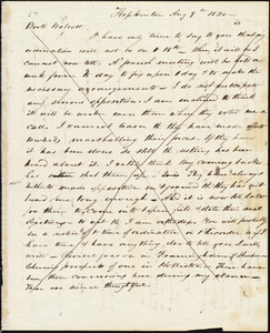 Letter from Amos Augustus Phelps, Hopkinton [Mass.?], to William Wolcott, Aug 9th 1830
