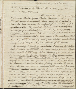 Letter from Amos Augustus Phelps, Hopkinton, August 28th 1832