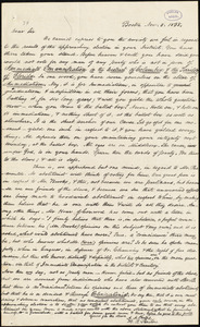 Circular letter from Amos Augustus Phelps, Boston, Nov. 8. 1838