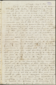 Reply to Frederick Douglass report of the Annual Meeting of the Western N.Y. Anti Slavery Society from Henry Bush, Rochester [N.Y.], January 13, 1849