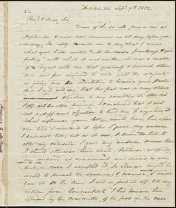 Letter from Amos Augustus Phelps, Hopkinton, to Asa Rand, Sept. 7th 1832