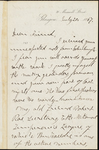 Letter from William Logan, Glasgow, [Scotland], to William Lloyd Garrison, July 20, 1867