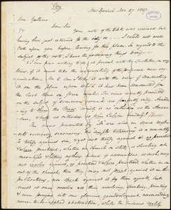 Copy of letter from Amos Augustus Phelps, Boston, to John Gulliver, Nov. 27. 1837
