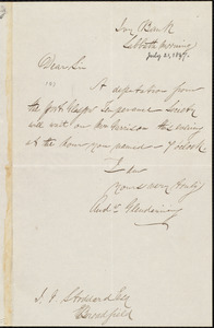 Letter from Andrew Glendenning, [Port Glasgow, Scotland], to I. J. Stoddard, [July 21, 1867]