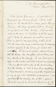 Letter from Samuel May, Jr., Boston, [Mass.], to William Lloyd Garrison, May 18. 1877