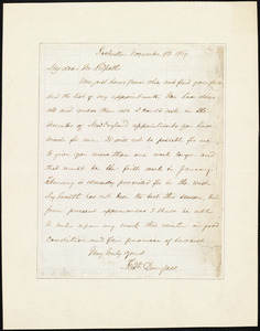 Letter from Frederick Douglass, Rochester [N.Y.], to James Redpath, November 9th 1869
