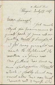 Letter from William Logan, Glasgow, [Scotland], to William Lloyd Garrison, July 27, 1867