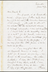 Letter from Samuel May, Jr., Leicester, [Mass.], to William Lloyd Garrison, June 10 / [18]74