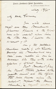 Letter from James Miller M'Kim, Philad[elphi]a, [Pa.], to William Lloyd Garrison, May 13 / [18]65