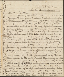 Letter from Isaac Richmond Barbour, Charlton, to Amos Augustus Phelps, April 15. 1839
