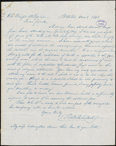 Letter from Thomas McClintock, Waterloo, [N.Y.], to William Lloyd Garrison and Henry Clarke Wright, [January] 8. 1848