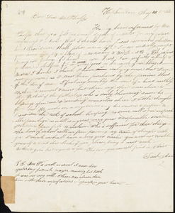 Letter from Sarah Ann Adams, Hopkinton, to Amos Augustus Phelps, Aug. 23. 1833