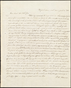 Letter from Sarah Ann Adams, Hopkinton, to Amos Augustus Phelps, Jul. 13./34