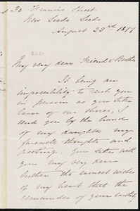 Letter from George Thompson, Leeds, [England], to William Lloyd Garrison, August 23rd 1877