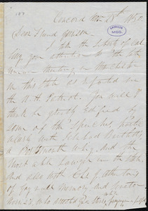 Letter from Parker Pillsbury, Concord, [N.H.], to William Lloyd Garrison, Nov[ember] 28th 1850