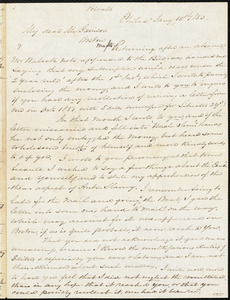 Letter from Benjamin Rush Plumly, Philad[elphi]a, [Pa.], to William Lloyd Garrison, Jan[uary] 10th 1853