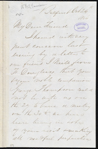 Letter from George C. Pine, [Belfast], to William Lloyd Garrison, Oct[ober] 24th 1846