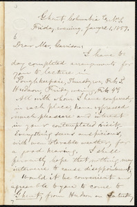 Letter from Aaron Macy Powell, Ghent, N.Y., to William Lloyd Garrison, Jan[uar]y 21. 1859
