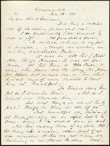 Letter from Parker Pillsbury, Concord, N.H., to William Lloyd Garrison, Nov[ember] 15 1878