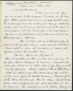 Letter from Parker Pillsbury, Toledo, Ohio, to William Lloyd Garrison, 15th Dec[ember] 1874